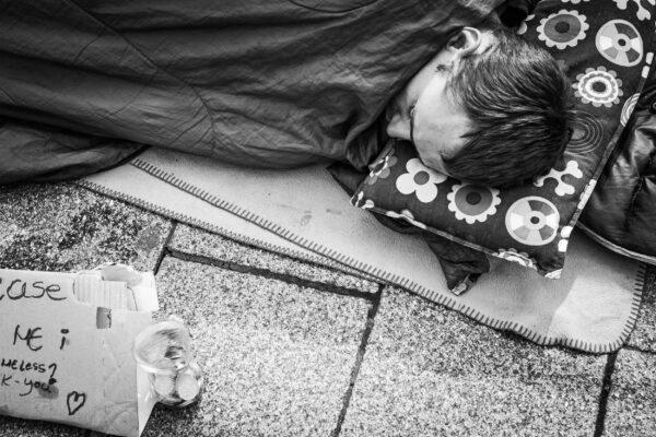 slapen op straat